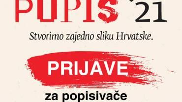 Javni poziv – Popisa stanovništva, kućanstava i stanova u Republici Hrvatskoj 2021. godine